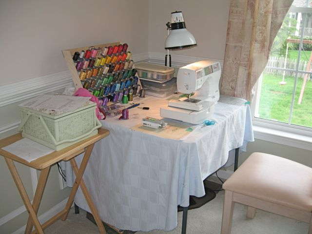 My sewing corner with the SE-270D.