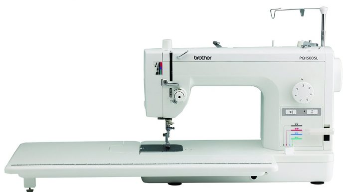 Brother PQ1500SL sewing and quilting machine side view