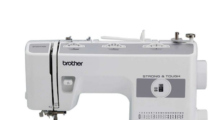 Brother ST531HD sewing machine side view