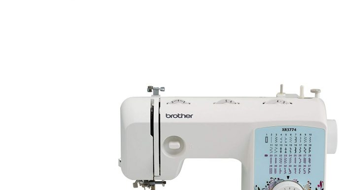 Brother XR3774 sewing machine side view