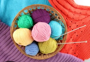 knitting needles in yarns