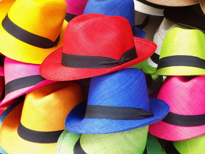 colorful hats on a pile
