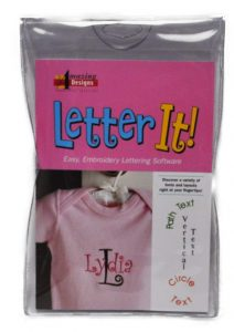 LETTER IT! Embroidery Machine Software