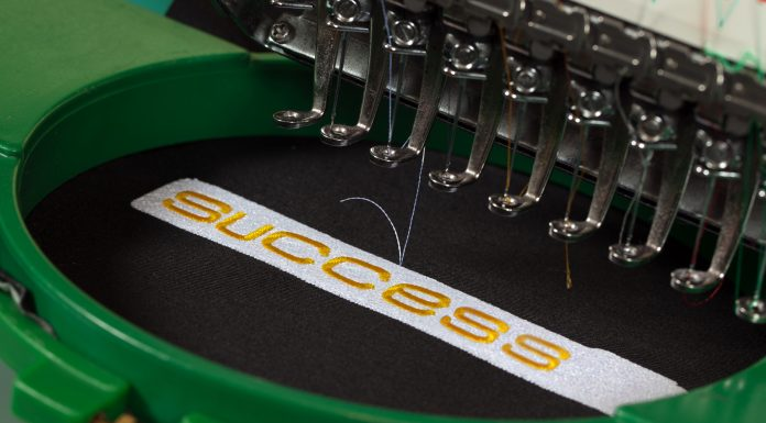 embroidery on a machine