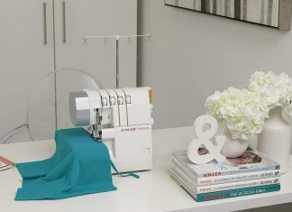 SINGER Serger 2-3-4 machine on the table