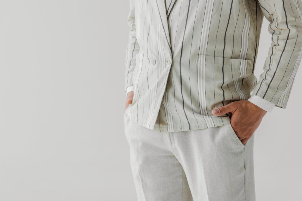 man's pants on a white background